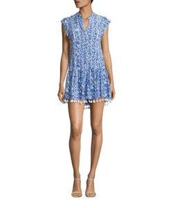 Poupette St Barth | Heni Tassel Hem Mini Dress