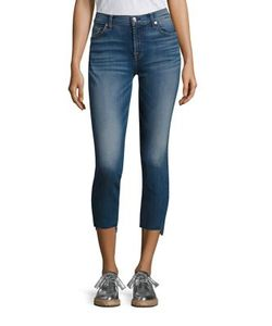 7 For All Mankind | Step Hem Skinny Ankle Jeans