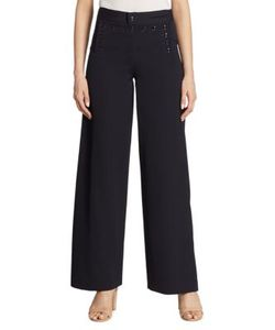 Ralph Lauren Collection | Ashley Wide-Leg Wool Sailor Pants