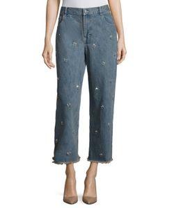 Sandy Liang   Ghost Swarovski Jeans