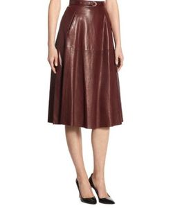 Ralph Lauren Collection | Carlotta Leather Skirt