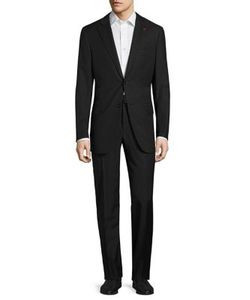 Isaia | Regular-Fit Thin Stripe Wool Suit