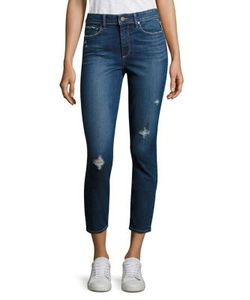 Paige | Hoxton Distressed Cropped Skinny Jeans