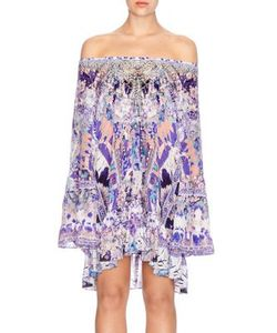 Camilla | Chinese Whispers Silk A-Line Dress