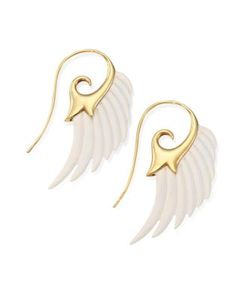 Noor Fares | Fly Me To The Moon Ivory 18k Yellow Gold Wing