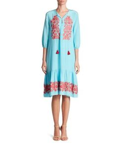 Figue   Misty Embroidered Dress