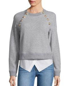 Derek Lam 10 Crosby   Long Sleeve Cropped Sweatshirt