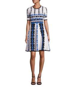 Yigal Azrouel | Jacquard Knit Fit--Flare Dress
