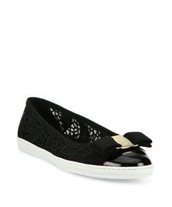 Salvatore Ferragamo | Rufina Lace Bow Sneaker Flats