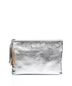 Loeffler Randall | Tassel Metallic Leather Pouch