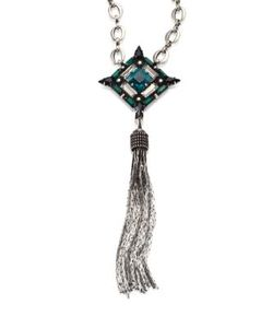 Dannijo | Liv Crystal Tassel Necklace