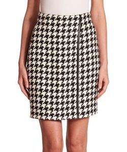 Akris | Linen Houndstooth Skirt