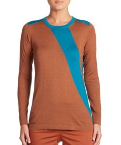 Akris | Two-Tone Cashmere Silk Knit Pullover