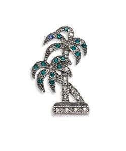 Marc Jacobs | Double Palm Crystal Brooch