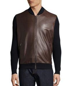 Salvatore Ferragamo | Leather Wool Blend Jacket