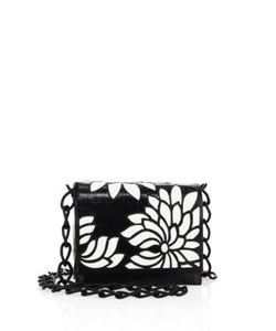 Nancy Gonzalez | Gio Laser-Cut Crocodile Crossbody