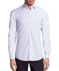 Salvatore Ferragamo | Gancini Check Button-Down Shirt