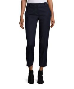 The Row   Blake Stretch-Cotton Ankle Pants