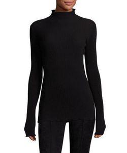The Row   Dita Virgin Wool Mockneck Sweater