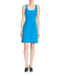Michael Kors Collection | Squareneck Stretch-Wool Shift Dress