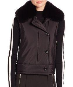 Michael Kors Collection | Fox Fur-Collar Cargo Vest