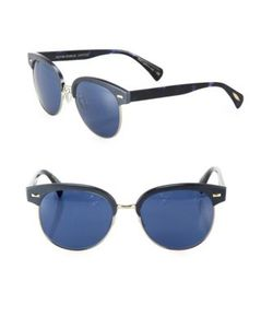 Oliver Peoples | Shaelie 55mm Round Mirrored Sunglasses