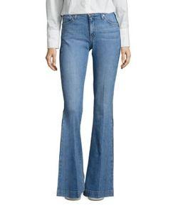 Derek Lam 10 Crosby   Noha Flared Tuxedo Stripe Jeans
