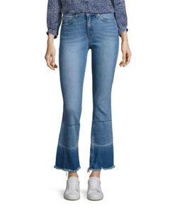 Derek Lam 10 Crosby   Jane Flip Flop Flared Ankle Jeans