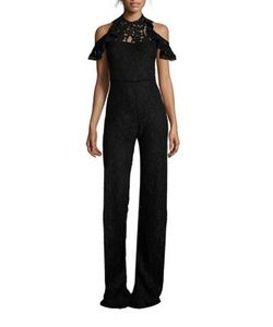 Alexis | Ruffled Lace Jumpsuit