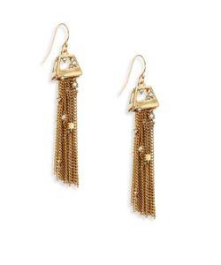Alexis Bittar | Elements Geo Crystal Tassel Earrings