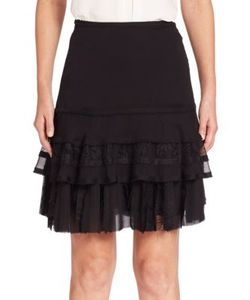 Jason Wu | Crinkled Chiffon Mini Skirt
