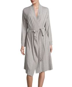 Skin | Heathered Cotton Jersey Robe