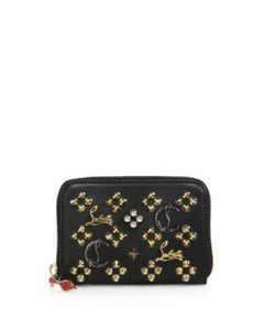 CHRISTIAN LOUBOUTIN | Panettone Logo-Detail Studded Leather Coin Purse