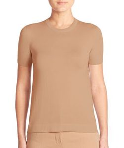 Akris | Short-Sleeve Cashmere Knit Pullover