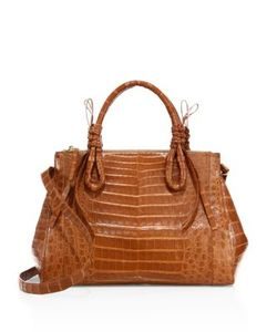 Nancy Gonzalez | Large Double Tie-Knot Crocodile Tote