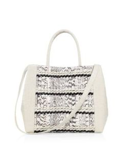 Nancy Gonzalez | Woven Stripe Crocodile Leather Tote