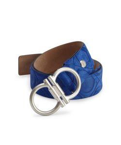 Salvatore Ferragamo | Stamped Jeanswear Suede Belt