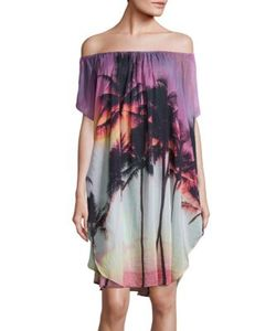 Samudra | Surf Jaipur A Off-The-Shoulder Silk Blend Caftan