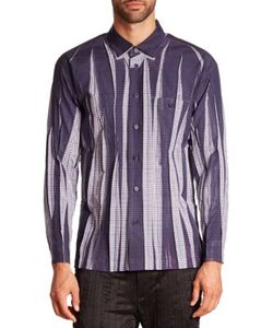 Issey Miyake | Wrinkle Check Woven Sportshirt
