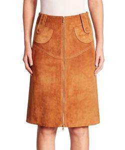 Derek Lam | Suede Buckle Pencil Skirt
