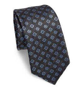 Kiton | Floral Double Silk Tie