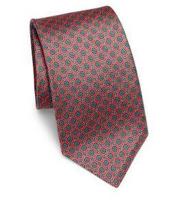 Kiton | Medallion Silk Tie