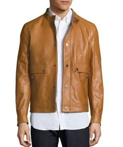 Salvatore Ferragamo | Lambskin Leather Jacket