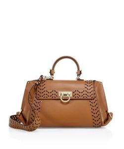 Salvatore Ferragamo | Sofia Medium Perforated Leather Satchel