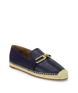 Michael Kors Collection | Lennox Leather Espadrille Shoes