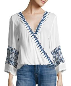 Piper | Butan Embroidered Top