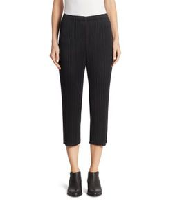 Pleats Please By Issey Miyake | Cropped Skinny Pants