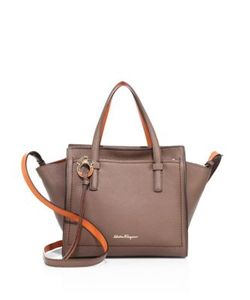 Salvatore Ferragamo | Mini Two-Tone Leather Tote