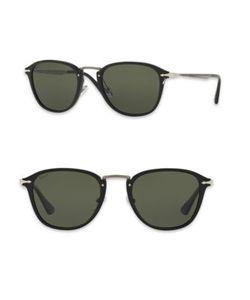 Persol | Calligrapher 52mm Polarized Square Sunglasses