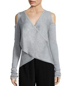 Derek Lam 10 Crosby   Cross Front Silk Cashmere Blend Sweater